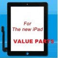 iPad 3 touch screen with adhesive tape [Black]
